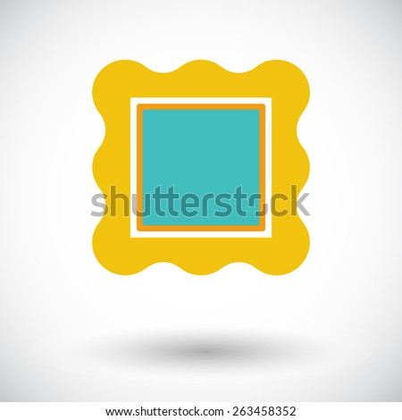 Picture frame. Single flat icon on white background. Vector illustration. - stock vector