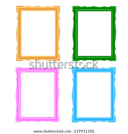Picture frame vector - stock vector