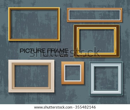Picture frame vector on wall