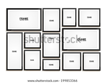 Picture frame vector. Photo art gallery  - stock vector
