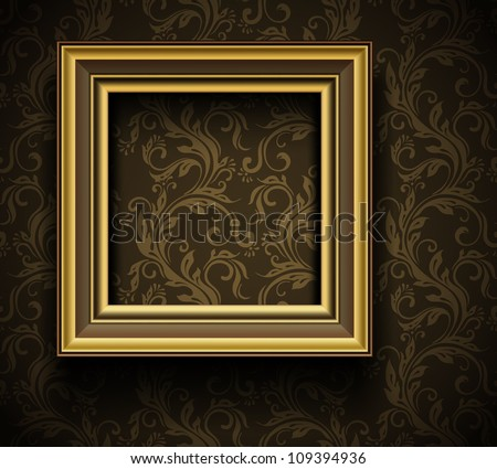 Picture Frame Wallpaper Background  Photo Frame on Grunge Wall - stock vector