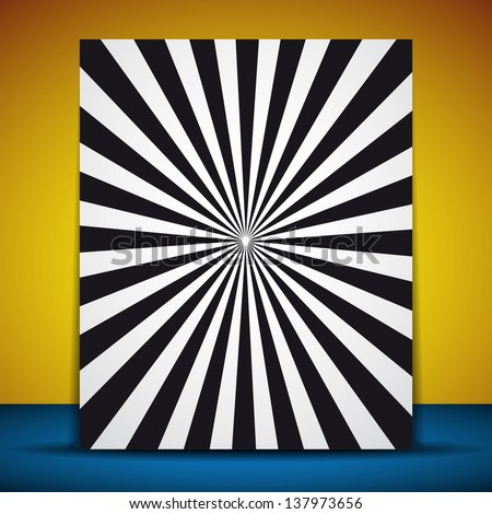 Picture frame with optical illusion - vector illustration - stock vector
