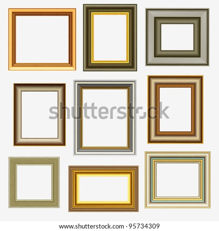 Picture Frames - stock vector