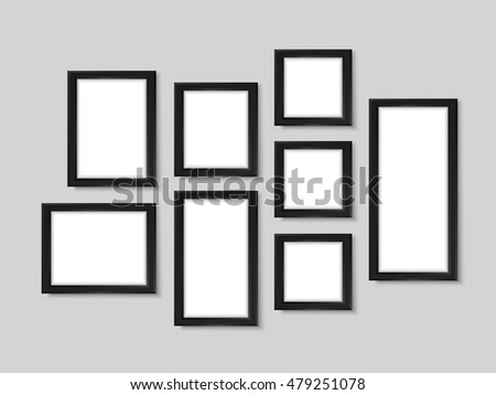 Picture Frames On Wall Simple 11pcs/set Simple Black/White Inset ...
