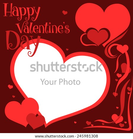 Picture Frames Valentines Day Stock Vector 245981308 - Shutterstock
