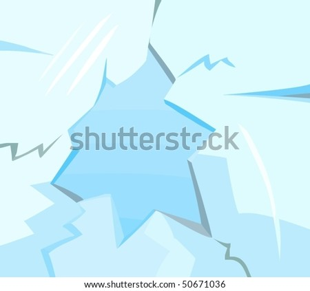 Picture of a cracked glass - stock vector