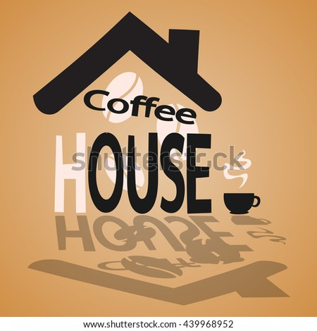picture of coffee house - stock vector