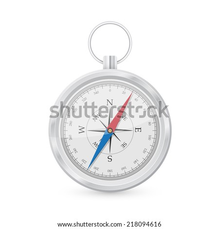 picture of compass isolated on white background