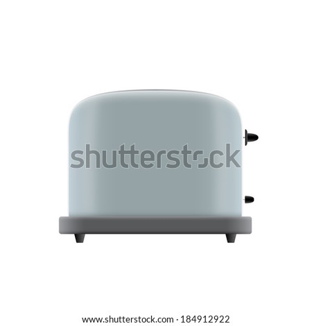 picture of toaster on white background, vector eps 10 illustration - stock vector