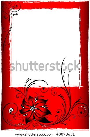 Picture postcard, all parts closed, editing is possible, floral backgrounds - stock vector