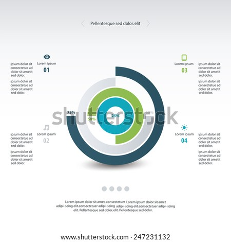 Pyramid Upside Down Infographic Template Stock Vector 220484629 ...
