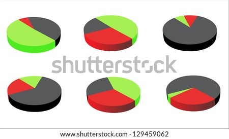 pie charts (pie chart graph) - stock vector