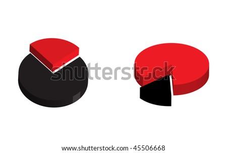 pie color diagram - stock vector