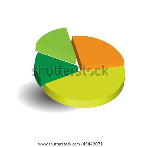 pie diagram - stock vector