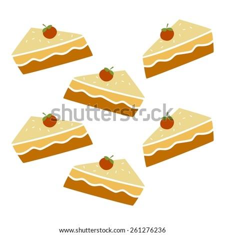pie - restaurant theme - stock vector
