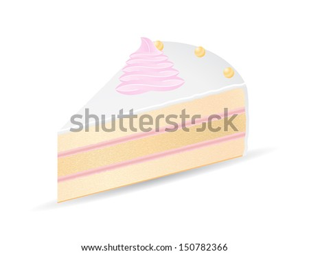 piece of cake vector illustration isolated on white background - stock vector