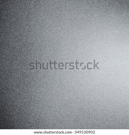 Piece of gray jeans texture background. Vector illustration. - stock vector