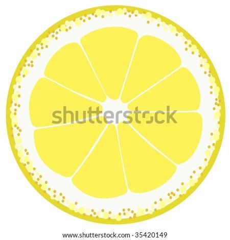 piece of lemon - stock vector