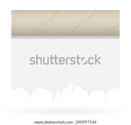 piece toilet paper vector illustration isolated on white background - stock vector
