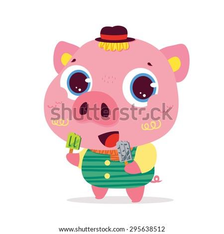 pig cartoons character cartoon stock vector 295638512 shutterstock