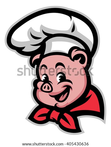 Pig chef - stock vector