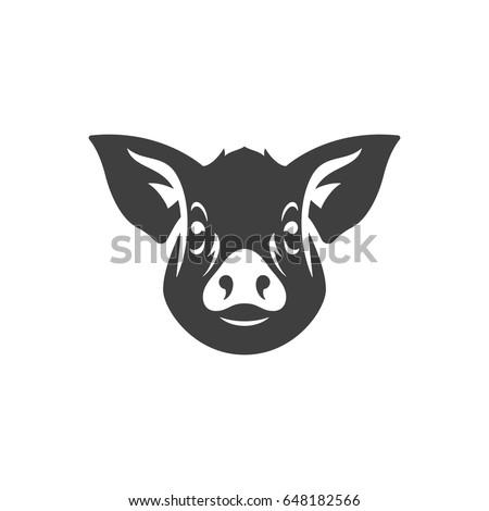 pig logo template vector design stock vector 473185123