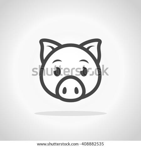pig icon pig logo stock vector 408882535 shutterstock