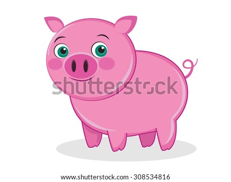 Pig illustration, vector