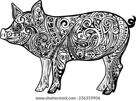 aztec design on dark background stock illustration 1138279