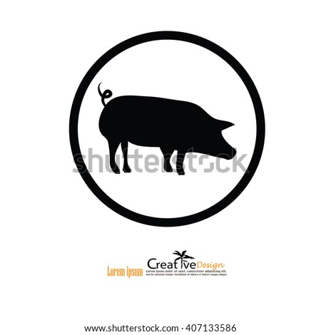 pig.pig icon.vector illustration.