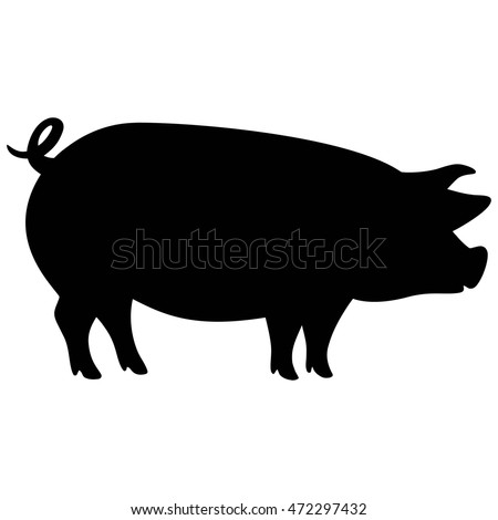 pig silhouette stock images, royalty-free images & vectors
