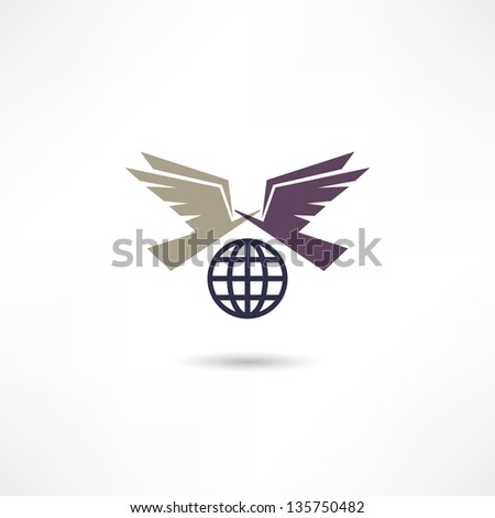 Pigeon icon - stock vector