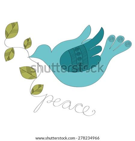 Pigeon peace vector illustration  - stock vector