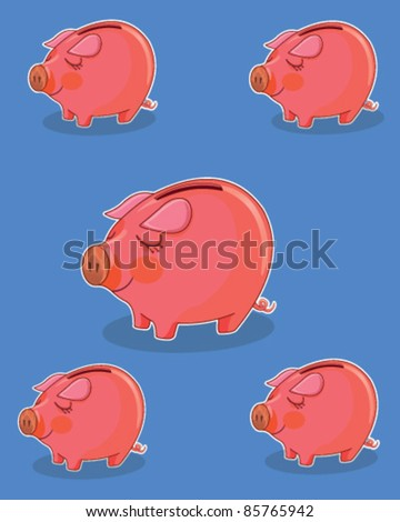 Piggy bank - stock vector