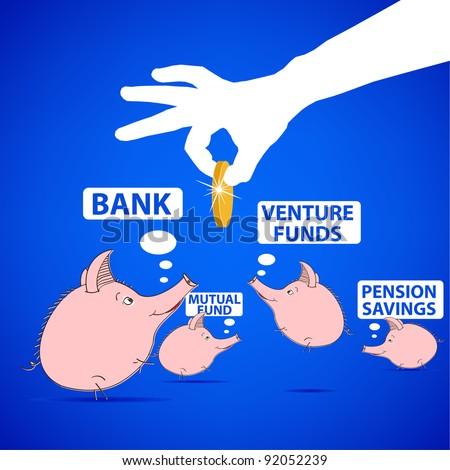 piggy-bank - stock vector