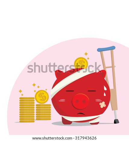 Piggy bank design of accident concepts