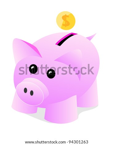 Piggy bank for savings. The discipline to save money