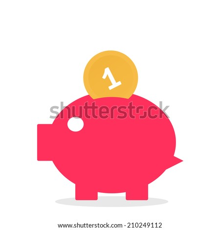 Piggy Bank Savings Vector Illustration - stock vector