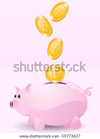 piggy bank with money