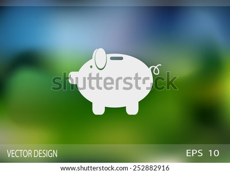 piggy web icon. vector design