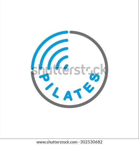 Pilates logo template
