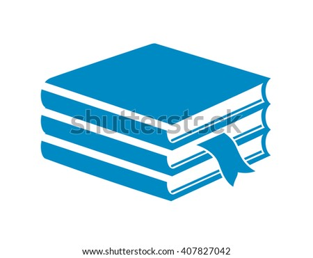 Pile of books icon - stock vector