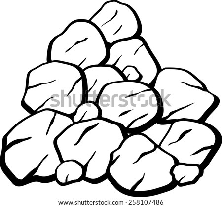 pile of rocks or coal - stock vector