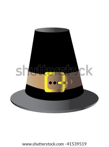 Pilgrim Hat - stock vector