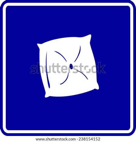 pillow cushion sign - stock vector