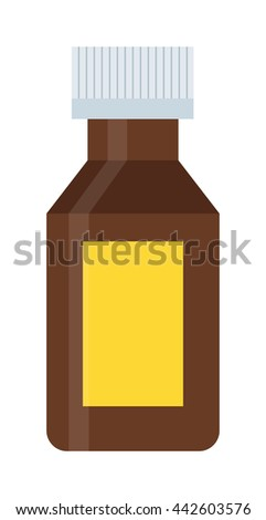 Pills tube spilling out pill bottle isolated. Pills tube isolated vector medical tablet and healthy vitamin antibiotic pills isolated. Pills isolated prescription pain care tablets - stock vector