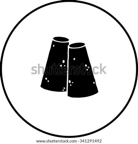 piloncillo or panela pylons symbol - stock vector
