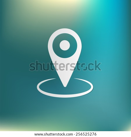 pin location on the map. local pin - stock vector
