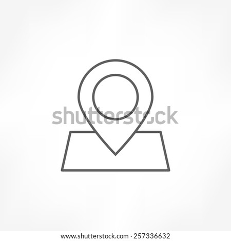 pin map icon - stock vector