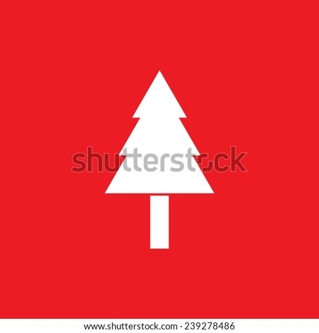 Pine tree icon - Vector - stock vector